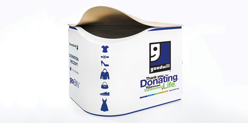 Thermoformed Goodwill GoBin Donation Bin