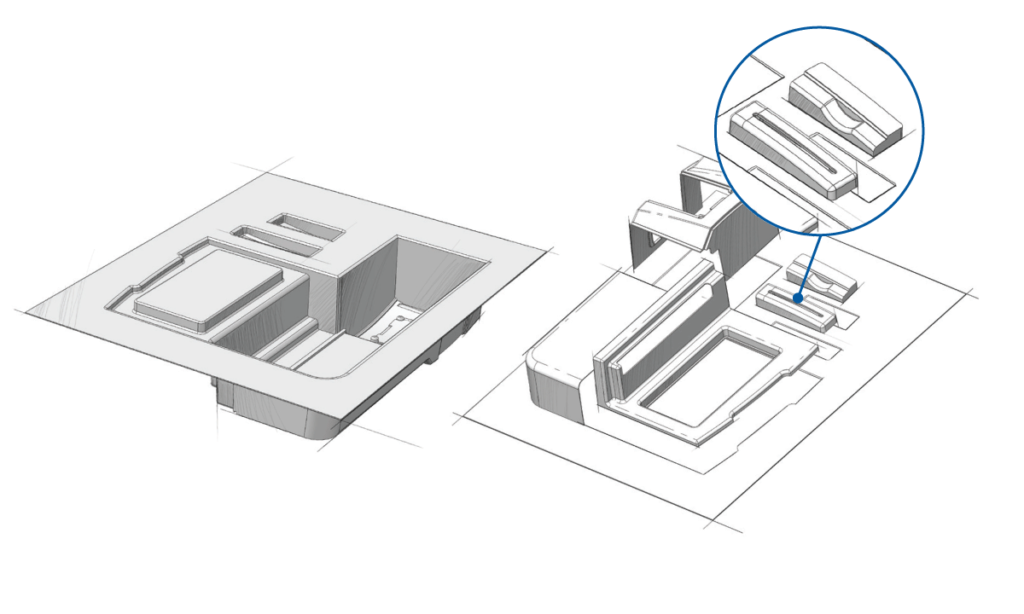 Illustration of a thermoforming Multi-Part Assembly