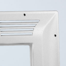 White Plastic Aerospace Thermoformed Material
