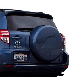 Blue Toyota Rav 4 Back Trunk Thermoformed Tire Cover