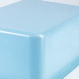Blue Thermoformed Plastic Tub