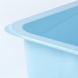 Blue Thermoformed Plastic Tub