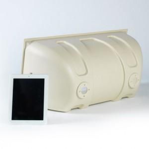 White Thermoformed Plastic Half Barrel White iPad
