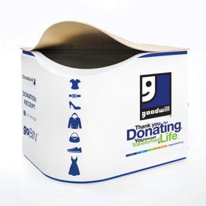 Thermoformed Goodwill GoBin Donation Bin