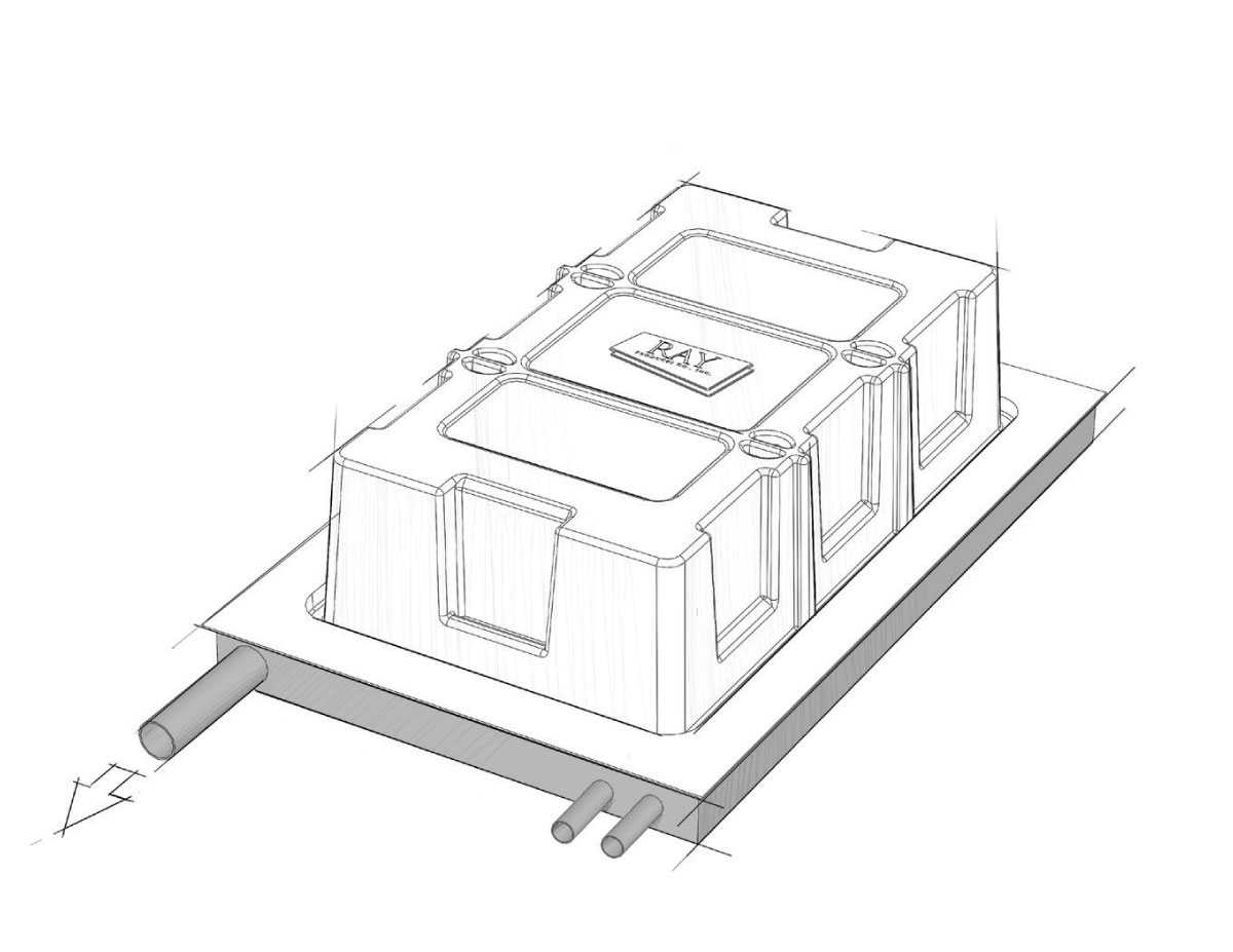 Vacuum forming illustration.