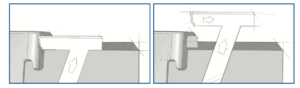 An illustration of how automated thermoforming tooling helps to release negative draft angles and undercuts.