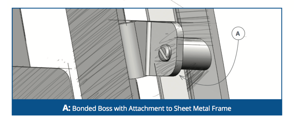 Bonded Bosses With Sheet Metal Attachments