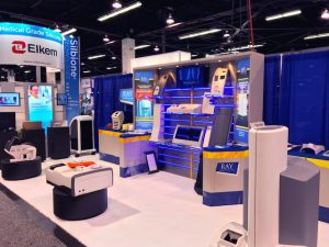 Ray Products booth at medical device manufacturing event