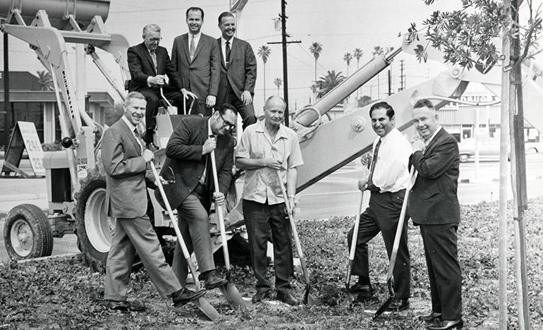 1949 groundbreaking ceremony for Ray Products